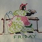 Black Americana Mammy Days of the Week Hand Towels