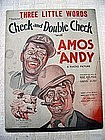 1930 Original Amos and Andy Sheet Music Fab Graphic