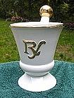 Wonderful 1950s White Ceramic Mortar & Pestle Display